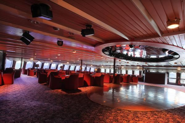 DEck 7 FWd Dolphin Lounge-Spot Lights set up for Musician