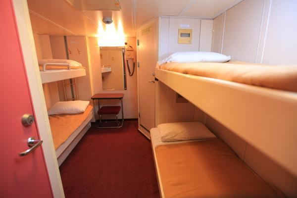 4 bunk deluxe cabin with attached toilet & shower