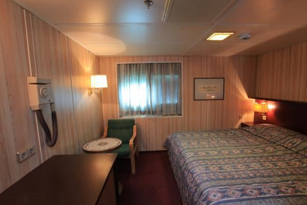 First class cabin with attached toilet & bath tub
