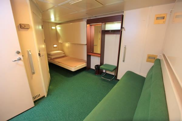 Special needs cabin (4 bunks) with attached toilet. Ideal for special needs passengers traveling with helpers